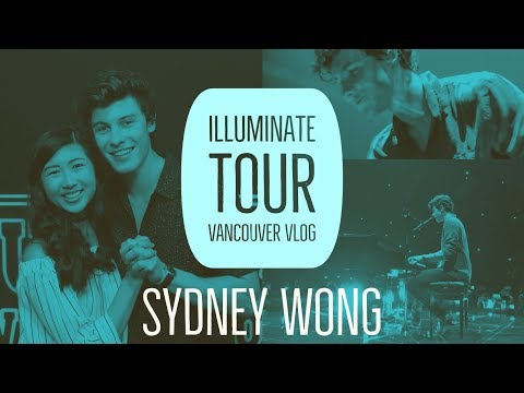 Shawn Mendes Illuminate World Tour Vancouver Vlog  Sydney Wong