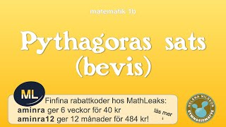 1b 4.2.1 Pythagoras sats (bevis)