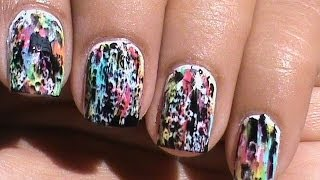 Color Acid Wash *NO Tools* : A Beginners Nail art without tools