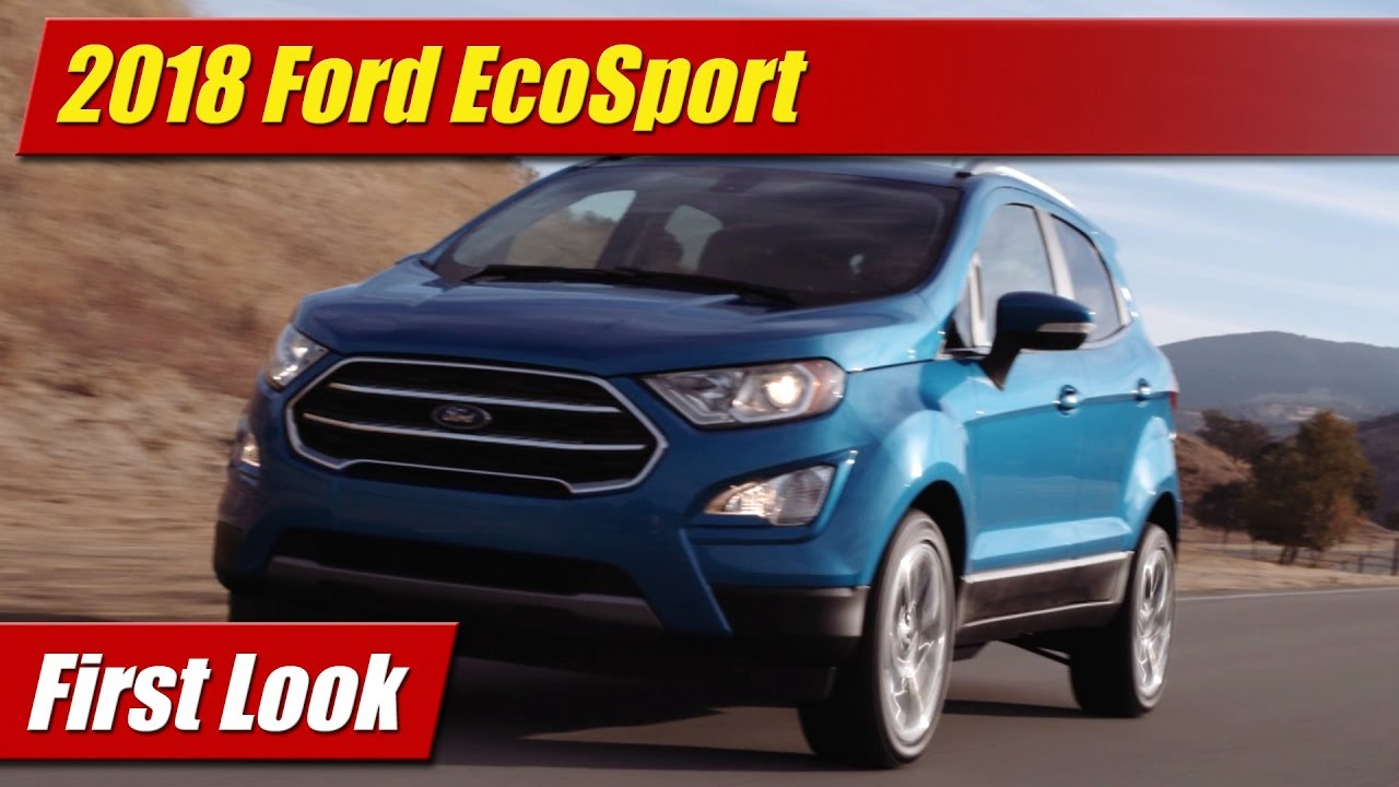 2018 ford ecosport first look youtube. Black Bedroom Furniture Sets. Home Design Ideas