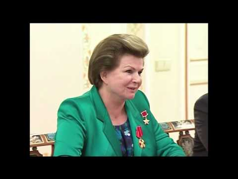 FIRST WOMAN IN SPACE! Putin Awards Valentina Tereshkova!