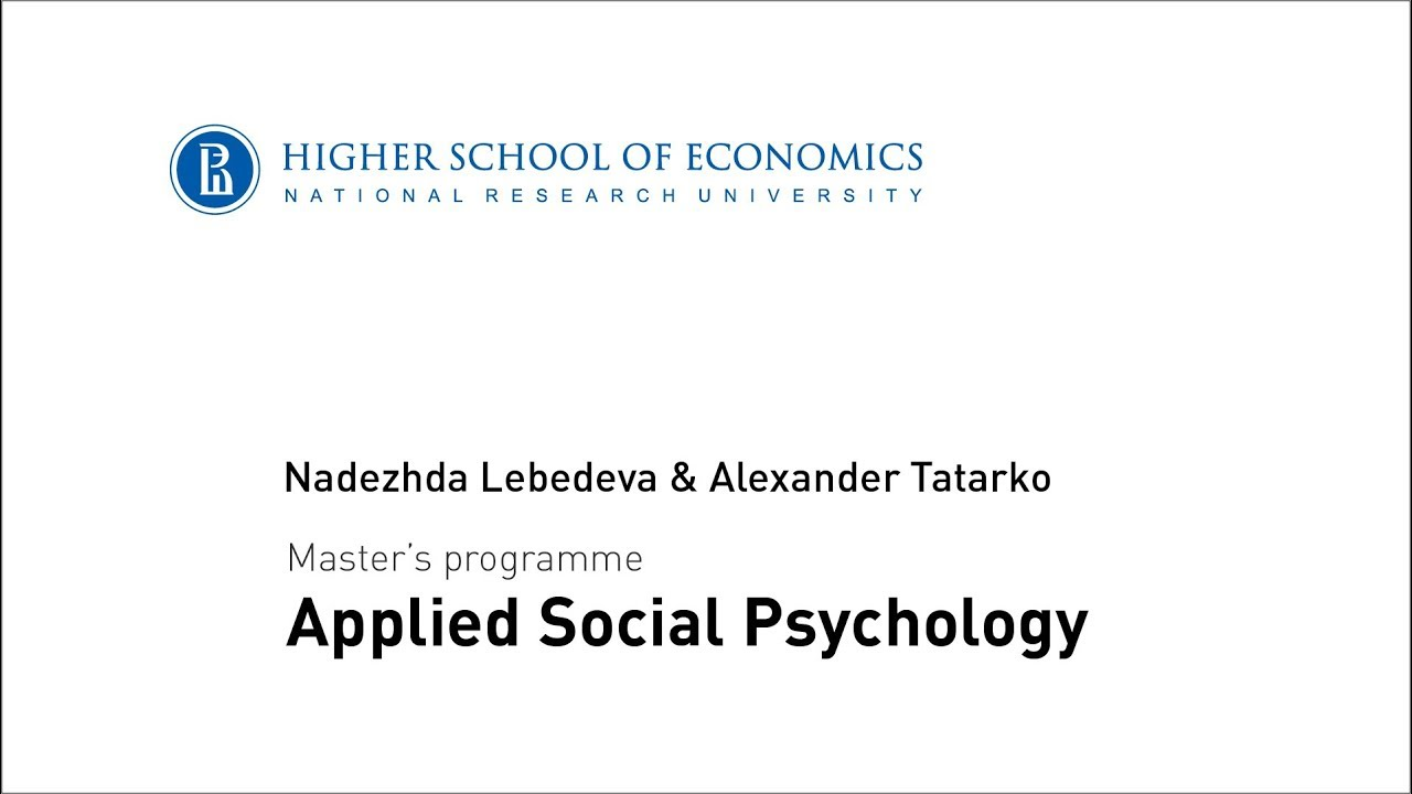 Master's programme in Applied Social Psychology