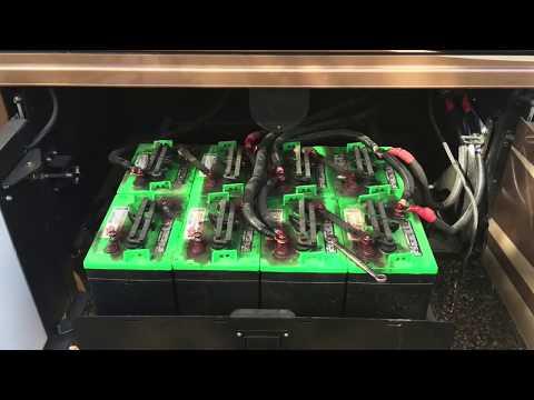 2000 Watt Solar 1200 Amp Hours Battery RV Power System - Newmar Class A
