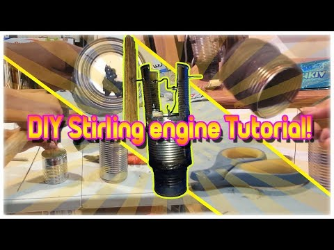 DIY stirling engine Pt. 1 || Recylcing 101