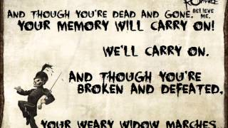 Repeat youtube video Welcome To The Black Parade - My Chemical Romance Lyrics