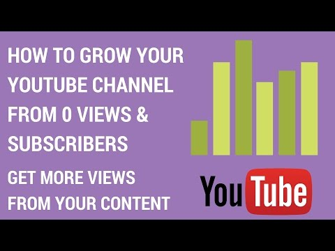 How To Grow Your YouTube Channel From 0 Views & Subscribers - Get More Views From Your Content