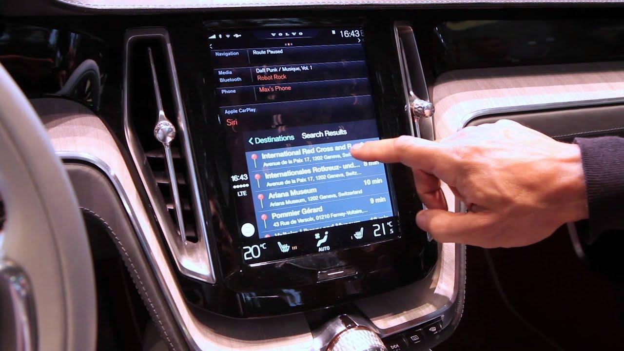 Apple Carplay Demo In Volvo Concept Estate: Geneva Motor Show 2014 - YouTube