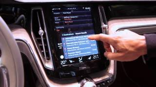 Repeat youtube video Apple Carplay Demo In Volvo Concept Estate: Geneva Motor Show 2014