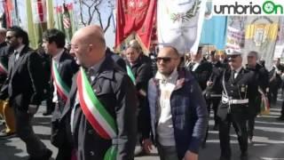 Perugia, il corteo di Libera contro le mafie e la lettura dei nomi delle vittime innocenti