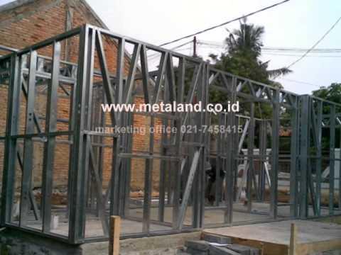 konstruksi baja ringan rumah minimalis youtube