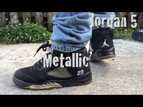 a32d90cde35b 2011 Jordan 5 Metallic Review w  On Foot - YouTube
