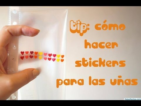 Tip c mo hacer stickers para las u as youtube for Donde venden stickers para pared