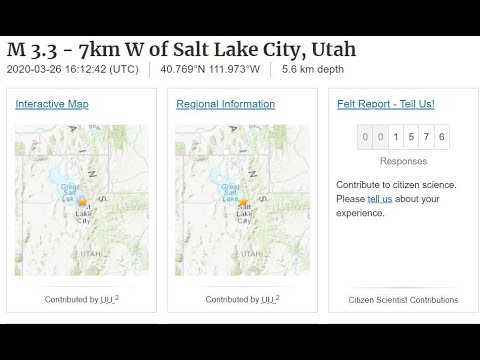 Salt Lake City Utah Earthquake Swarm, Could the Entire Wasatch Fault Rupture at Once