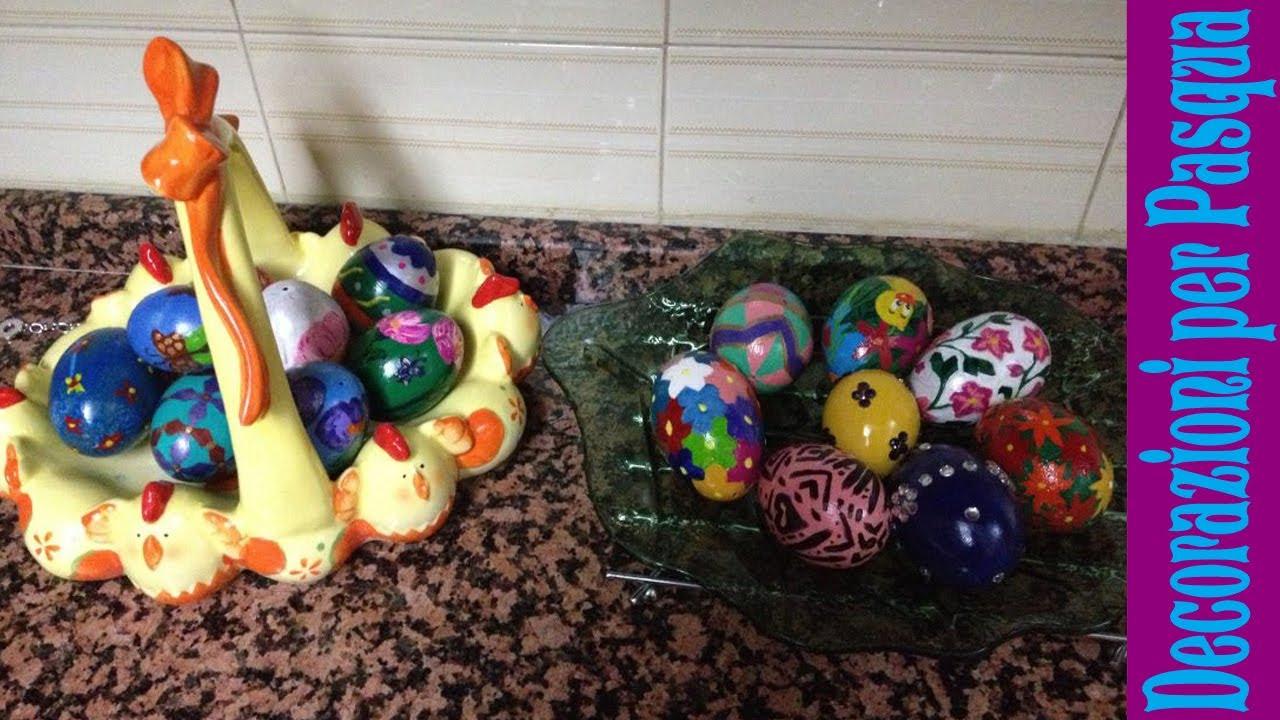 Decorare uova per pasqua decorazioni fai da te diy youtube - Pasqua decorazioni fai da te ...
