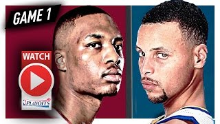 Stephen Curry vs Damian Lillard Game 1 Duel Highlights (2017 Playoffs) Warriors vs Blazers - SICK!
