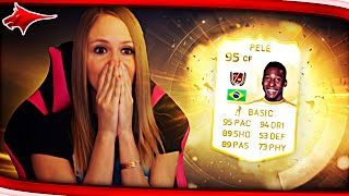 HOLY SHIT!! I PACKED THE LEGEND PELE!!! FIFA 15 PACK OPENING!