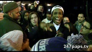 A$AP Rocky showing love to all his fans at Letterman Show in NYC