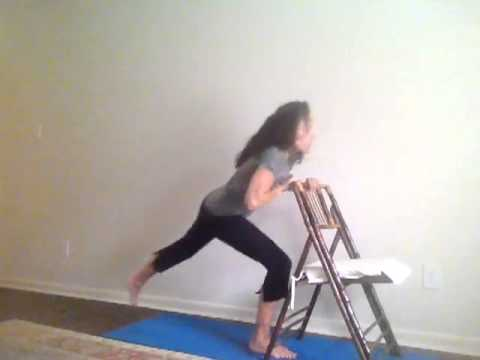 standing yoga poses with chair  youtube