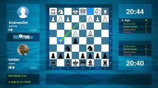 Chess Game Analysis: AndreasSei - kzidan : 0-1 (By ChessFriends.com)
