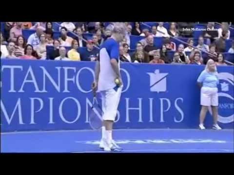 Jim Courier vs John McEnroe - RR Stanford