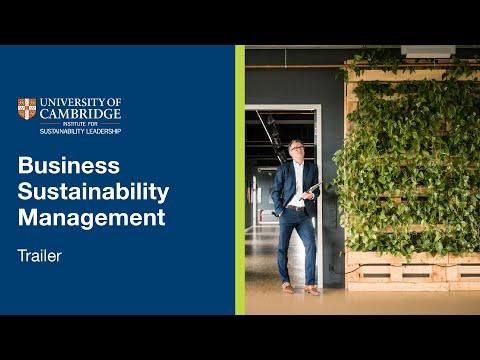 Business Sustainability Management   Cambridge Online Short