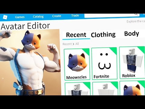 MAKING FORTNITE MEOWSCLES A ROBLOX ACCOUNT