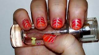 Fall Leaf Inspired Nail Design Tutorial | Samantha Beauty Thumbnail
