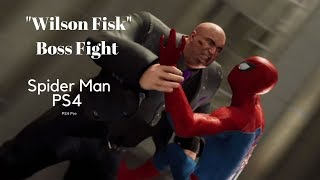 "Spider-Man PS4 |WILSON FISK ""KING PIN"" Full Boss Fight."