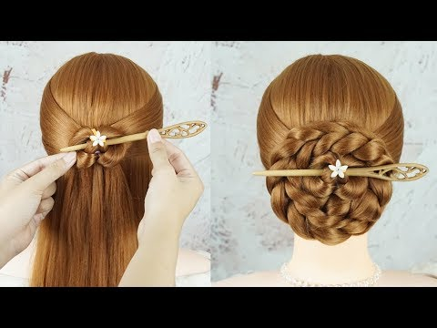 Easy And Cute Hairstyle With Using Hair Tools - New Hairstyle For Girls Easy And Simple thumbnail