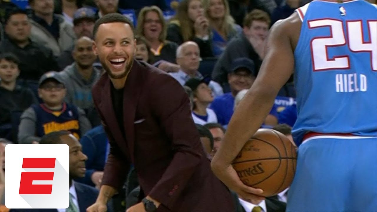 f2dcc915df4e Stephen Curry trolls Buddy Hield after out-of-bounds call
