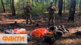 Россияне сбросили на Сумскую область 10 комплектов спасательных парашютов