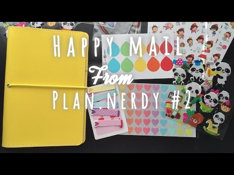 Happy Mail from Plan.nerdy #2 (New Planner)