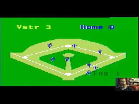 Intellivision Super Pro Baseball Gameplay