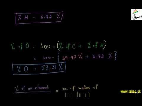 Calculating of Empirical Formula From Combustion Analysis   Punjab/Federal Board Syllabus