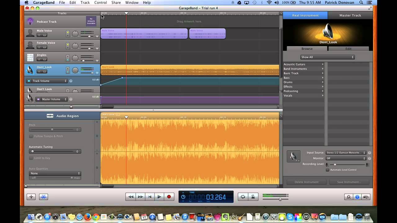 Garageband Fade In Fading In Out And Changing Volume Garageband
