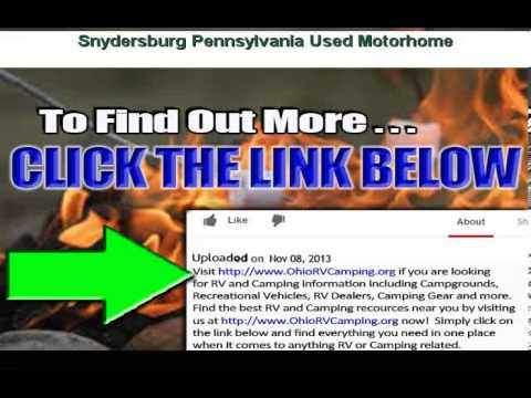 Used Motorhome near Snydersburg Pennsylvania