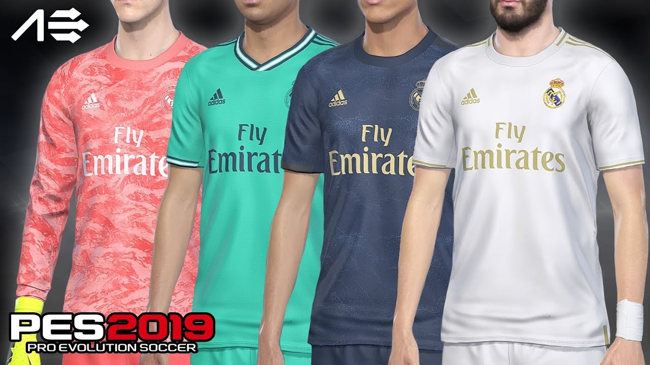 new styles 3c7b2 5dbbc PES 2019 PS4 Real Madrid Kits 2019/2020 by AerialEdson – PES ...