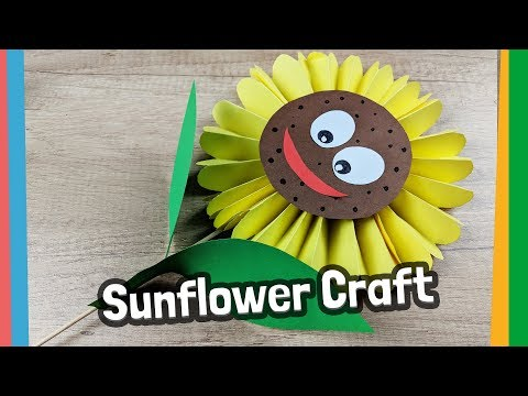 Paper Sunflower Craft for kids - 5 minute craft