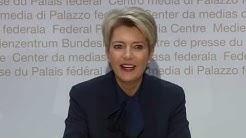 5.12.2018 - Medienkonferenz zur Bundesratswahl - Karin Keller-Sutter