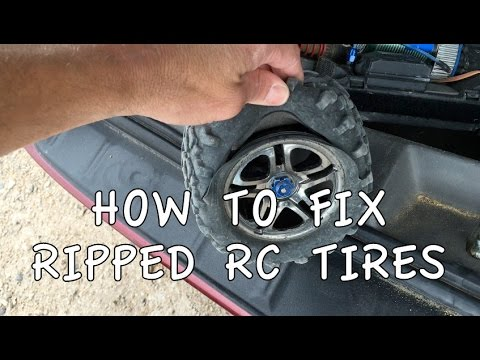 how to fix ripped tyre