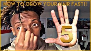 TOP 5 TIPS ON HOW TO GROW YOU HAIR FASTER! | FREEFORM HAIR!