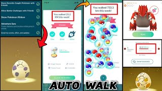 How to auto walk in Pokemon go | auto walk work again | adventure sync problem solved