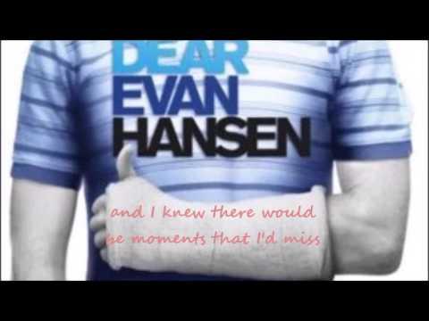 dear evan hansen - so big / so small (lyrics)