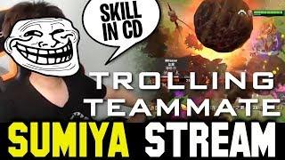 How SUMIYA troll his Teammate | Sumiya Invoker Stream Moment #1074