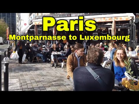 🇫🇷 Walking tour in Paris: From Montparnasse to Luxembourg【4K/60fps】🚶