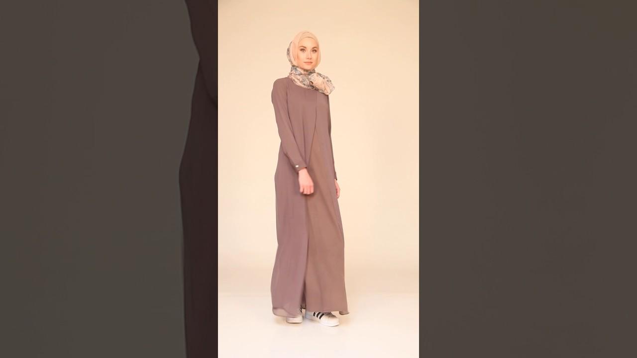 43a35350cdcbe DASHA SIMPLE MAXI DRESS ABAYA - MOCHA - YouTube