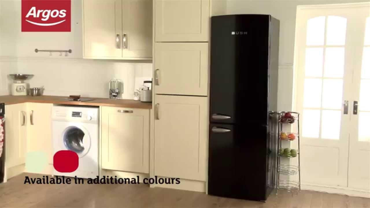 Uncategorized Bush Kitchen Appliances bush bsff60 retro frost free fridge freezer black youtube black