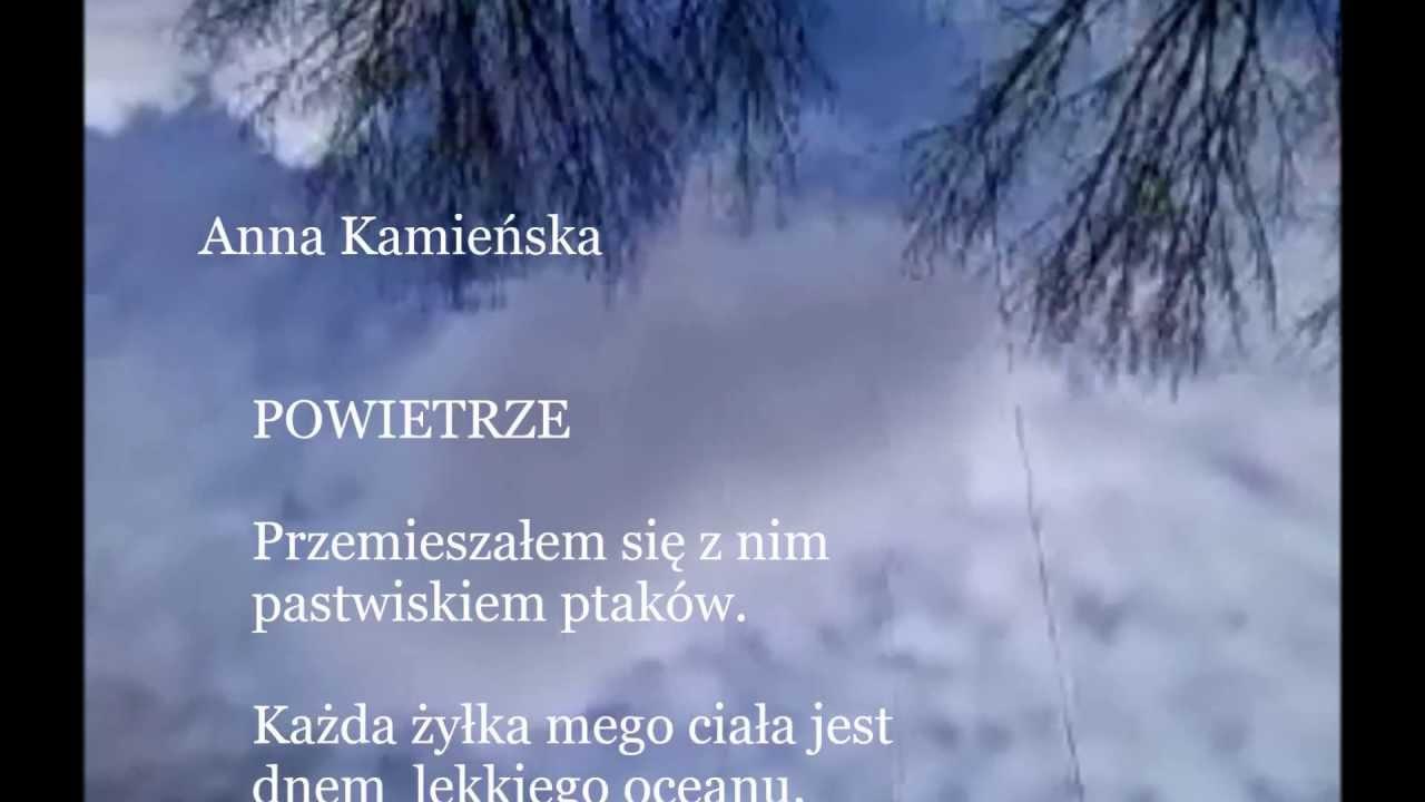 Powietrze Wiersz Anny Kamieńskiej