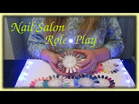 Nail Salon Role Play ASMR Nail Art