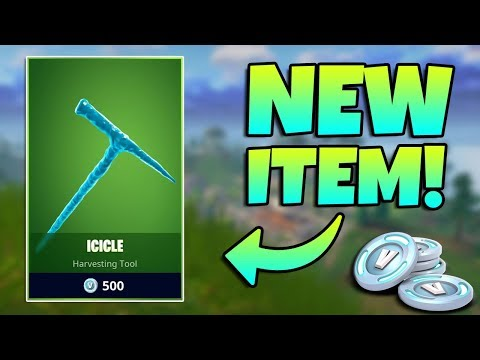 NEW ICICLE PICKAXE GAMEPLAY / Fortnite Battle Royale Live